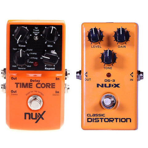 NuX Time Core Delay and DS-3 Distortion Bundle-ThePedalGuy