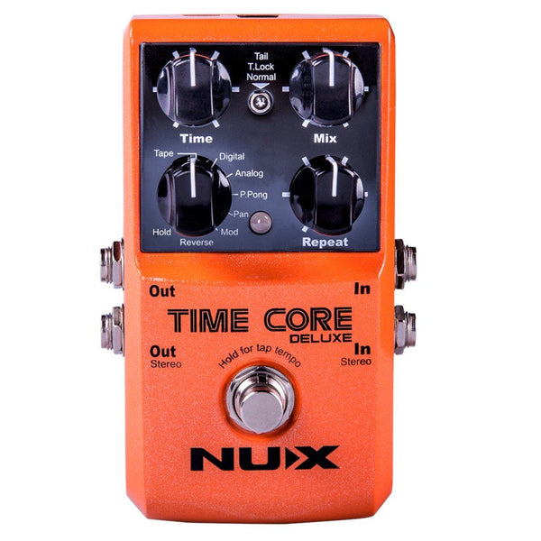 NuX Time Core Deluxe Delay Pedal for Guitar and Bass-ThePedalGuy