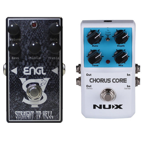 ENGL VS-10 Straight to Hell Distortion Pedal and NuX Chorus Core Bundle-ThePedalGuy