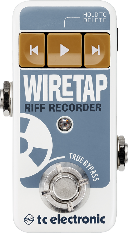 TC Electronic WireTap Riff Recorder Up to 8 Hours of Record Time Guitar Pedal with Bluetooth-ThePedalGuy