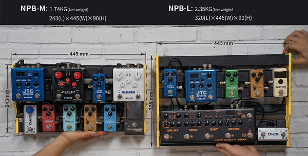NuX Bumblebee NPB-L Large Manageable Pedalboard with Softcase-ThePedalGuy