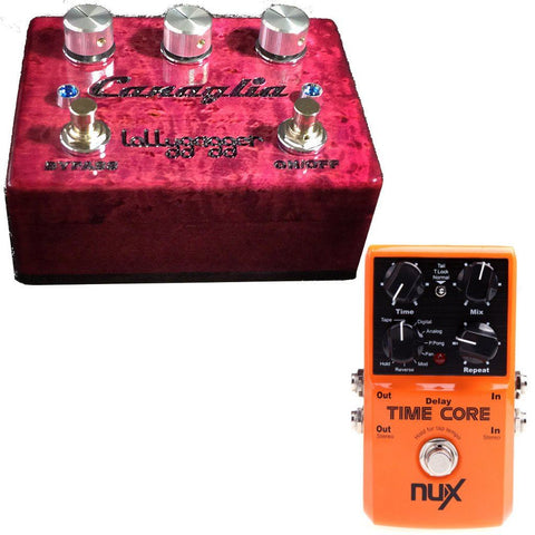Lollygagger FX Canaglia Overdrive Special Edition (Any Color) and NuX Time Core Delay Pedal-ThePedalGuy