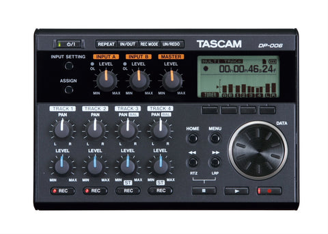 Tascam DP-006 6-track Digital Portable Pocketstudio with Built In Mics-ThePedalGuy