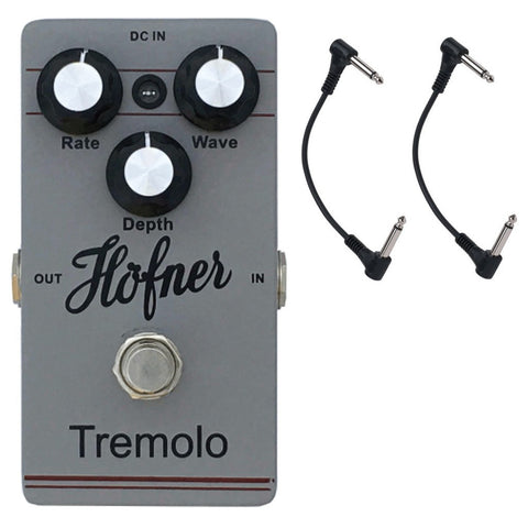 Hofner Vintage Temolo Guitar Pedal with Two Patch Cables-ThePedalGuy