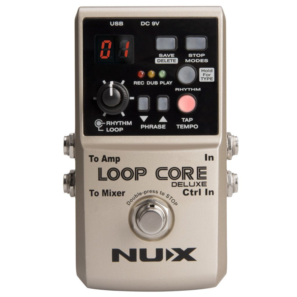 NUX Loop Core Deluxe 24 Bit Looper Pedal With NMP 2 DUAL Footswitch