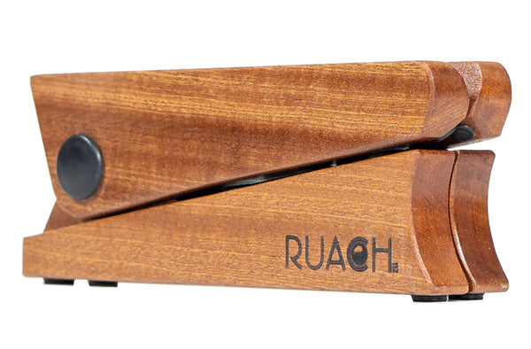 Ruach PS-1 Foldable Pocket Guitar Stand – Mahogany-ThePedalGuy