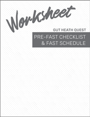Gut Health Quest Fast Checklist and Schedule