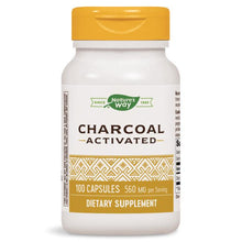 Load image into Gallery viewer, Nature's Way Activated Charcoal 100 Capsules