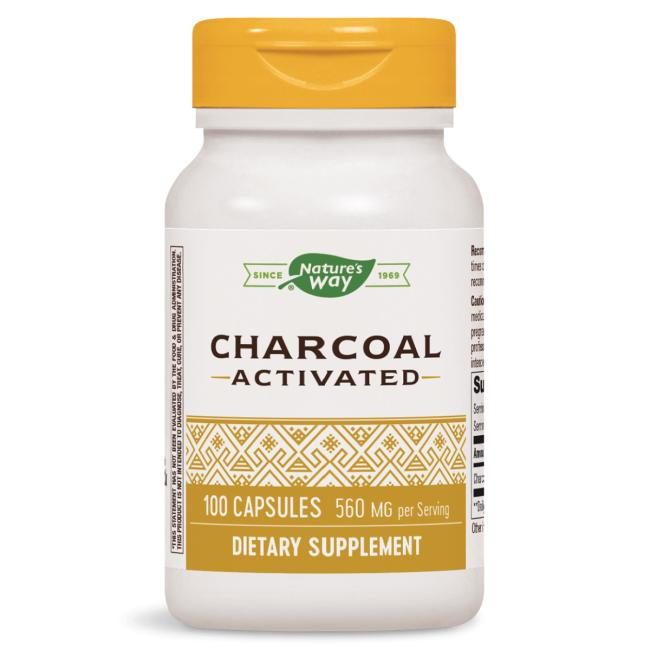 Nature's Way Activated Charcoal 100 Capsules