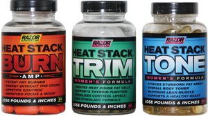Razor Nutrition Heat Stack Natural Fat Burning Weight Loss System