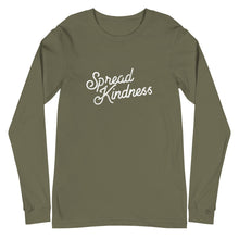 Load image into Gallery viewer, Spread Kindness Script Unisex Long Sleeve Tee
