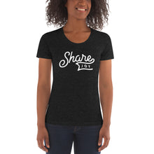 Load image into Gallery viewer, Share Joy Banner Women's Tri-Blend T-Shirt