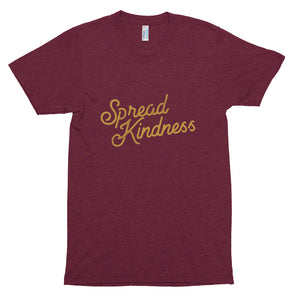Spread Kindness Script Unisex Tri-Blend Track Shirt