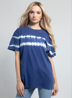 Stripe Tie-Dye Everybody Short Sleeve Tee