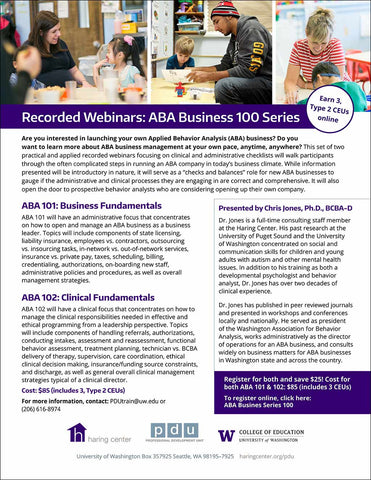 ABA Business Series Combo: ABA 101 and 102