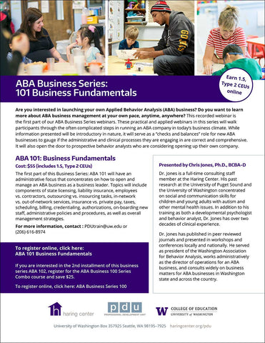Webinar: ABA Business 101 Business Fundamentals