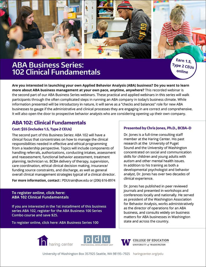 ABA Business 102 Clinical Fundamentals
