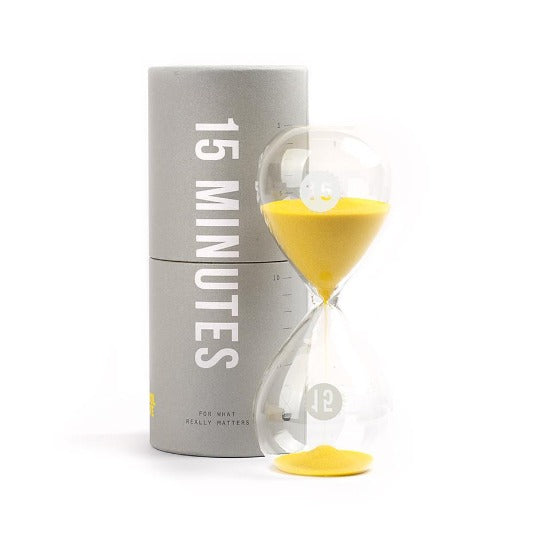 15 Minutes Timer Hourglass School of Life