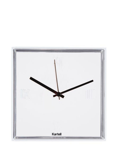 Tic Tac White Clock