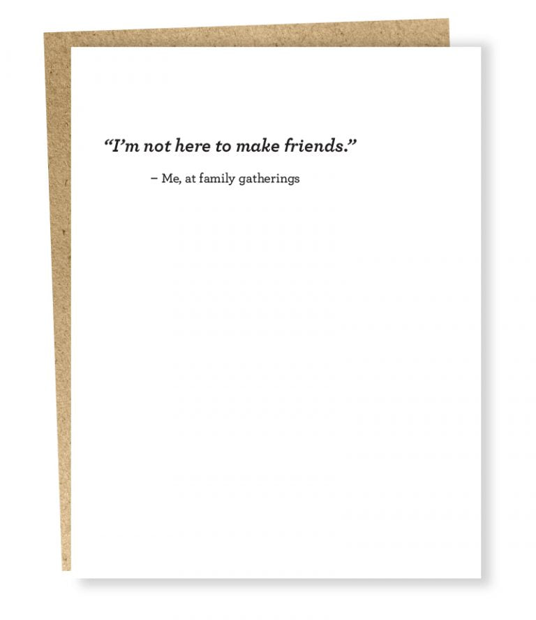 Make Friends Blank Card