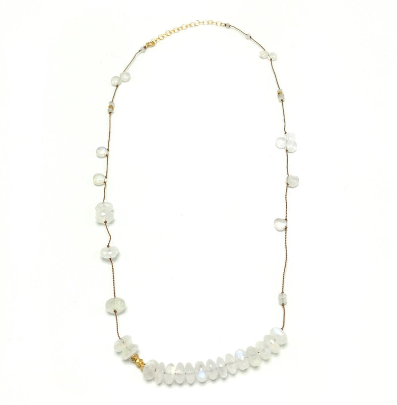 Adeline Rainbow Moonstone Necklace