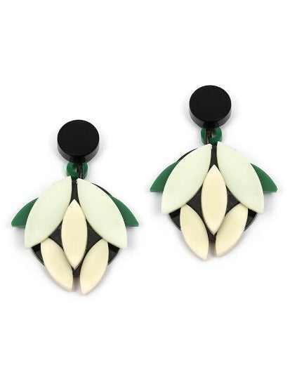 Circa Natura Flora Green Earrings