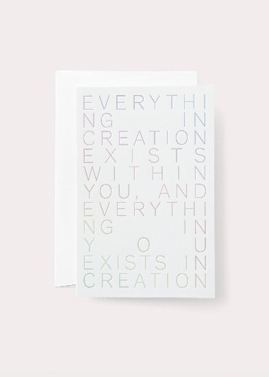 Creation Blank Card