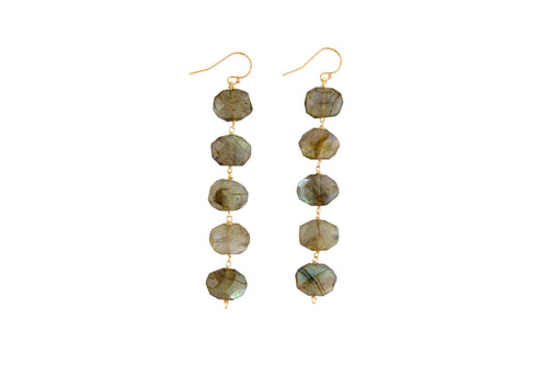 "Dania 3.5""Labradorite Earrings"