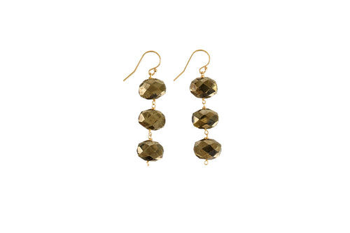 "Dania 2"" Pyrite Earrings"
