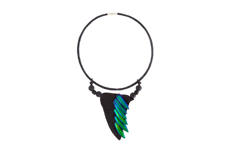 Shagreen Choker with Wings