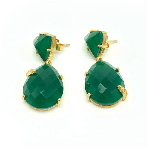 Ellie Green Onyx Earrings