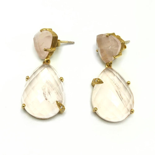Ellie Rose Quartz Earrings