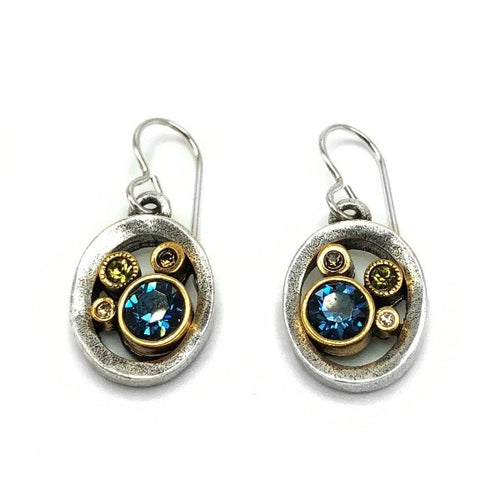 Water Ride Cascade Silver Earrings