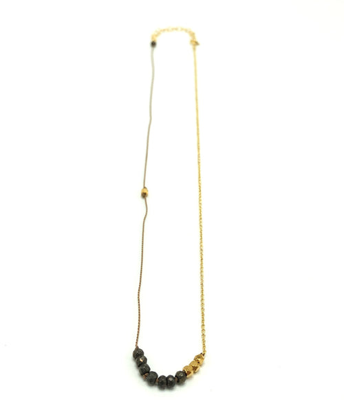 Heather Pyrite Necklace