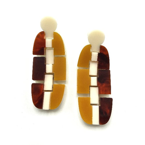 Ventura Link Orange Earrings
