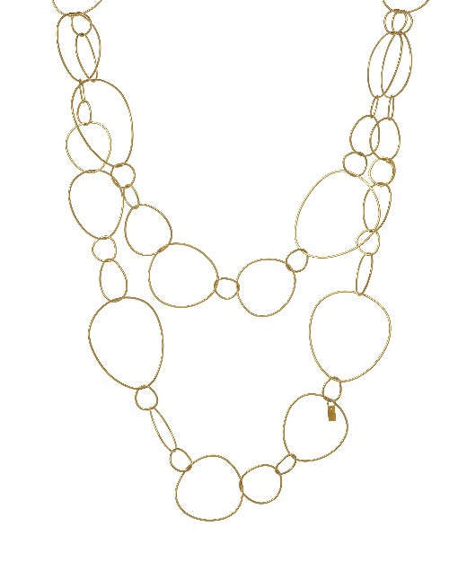 Very Thin L Gold Necklace