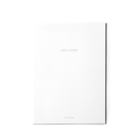 Less Is More White Sketchbook