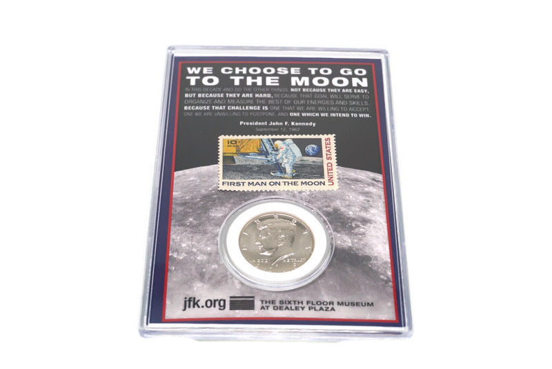 We Choose To Go To The Moon Coin/Stamp Set