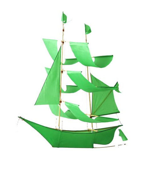 Sailing Ship Kite - Green