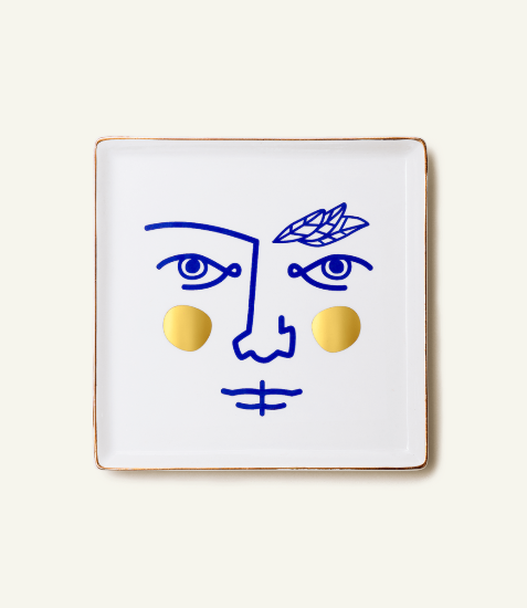 Janus Warrior Ceramic Tray