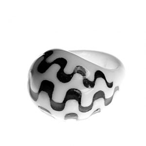 Tropico Black/White Ring