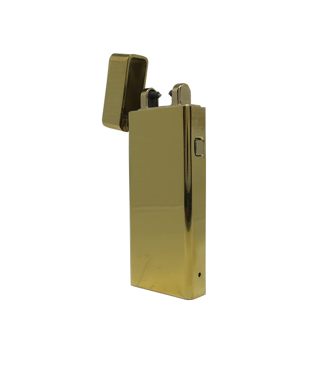 USB Standard Single Gold Metallic Lighter