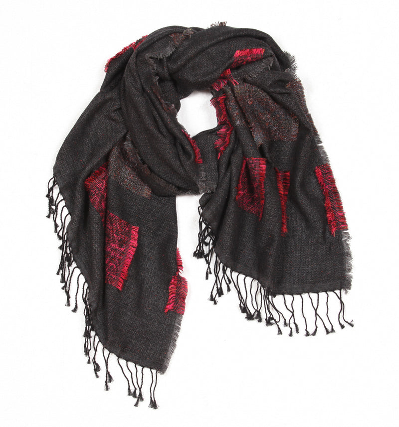 Embrace Charcoal Scarf
