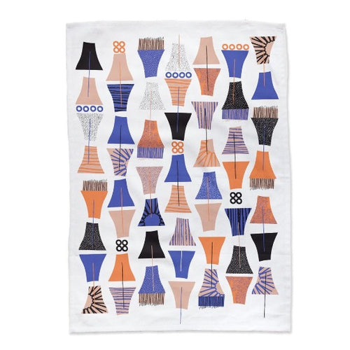 Midnight Garden Tea Towel Mezzaluna Studios