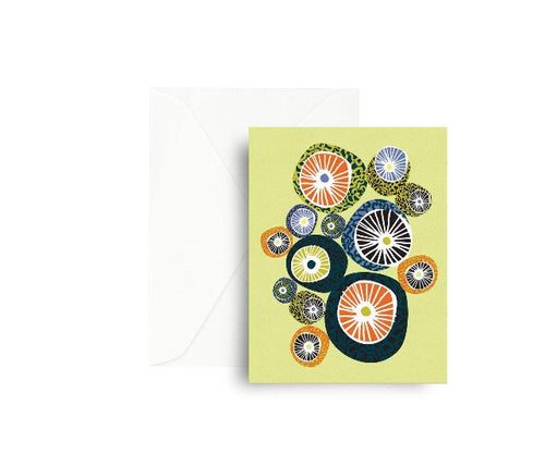 Moon Circles Greeting Card Mezzaluna Studio