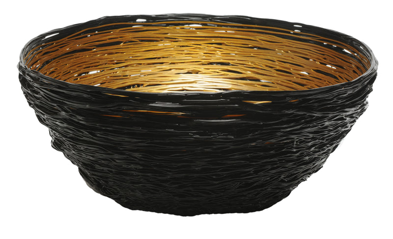Tutti Frutti Black-Gold Bowl
