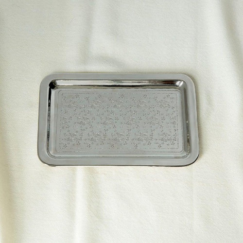 Caspian Small Nickle Plated Tray