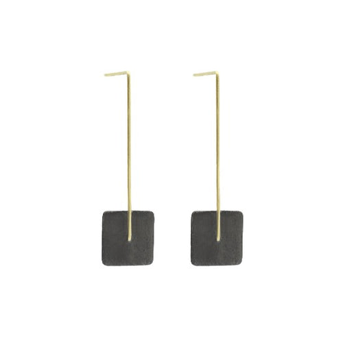 Kyla Katz Large Square Drop Earrings