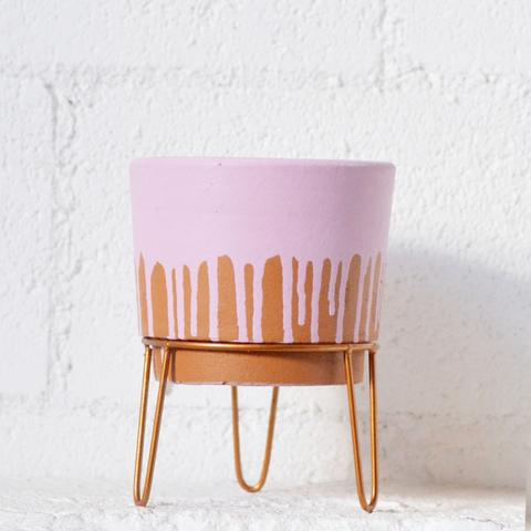 Terracota Pink/Tan Brown Planter