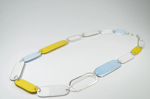 Steffi Necklace 4 White/Blue/Yellow
